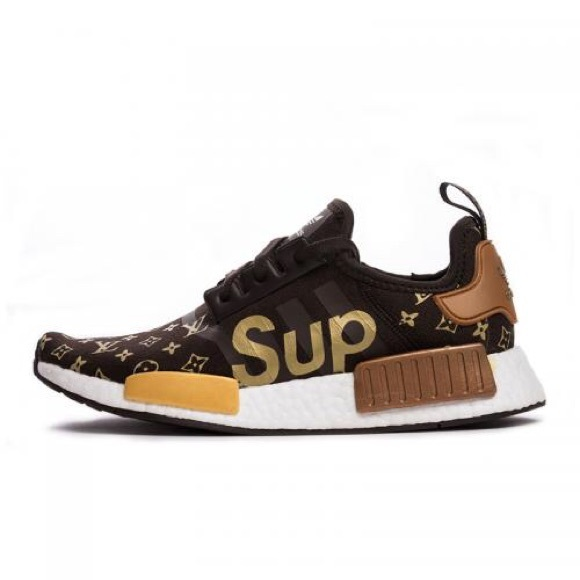 25ea17331fc Adidas NMD Louis Vuitton X Supreme style shoes